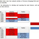 Dạng bài mới của Writing Task 1: Timetable